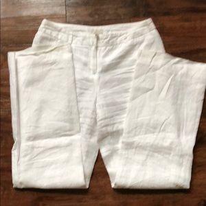 Madison Pants - White linen pants